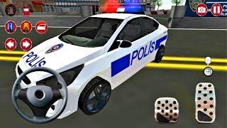 Polis Arabası Araba Oyunu   Real Police Car Driving Simulator 3D - #3 - Android Gameplay FHD