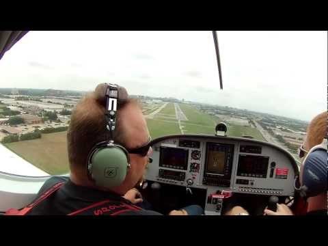 First Flight Training at US Sport Aircraft in Addison, Texas LANDING
