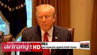 Trump calls for rapid measures against North Korea