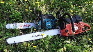 Dolmar PS-9010 (90cc) & Makita EA5000p (50cc) cutting firewood !!!