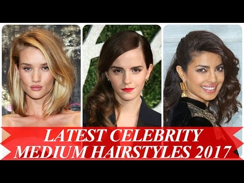 Latest celebrity medium hairstyles 2017