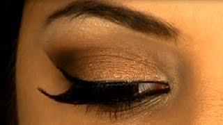 Glamorous & Sexy Bronze Smokey Eye Makeup | Indian Skin Tone