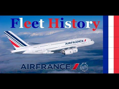 Air France Fleet History