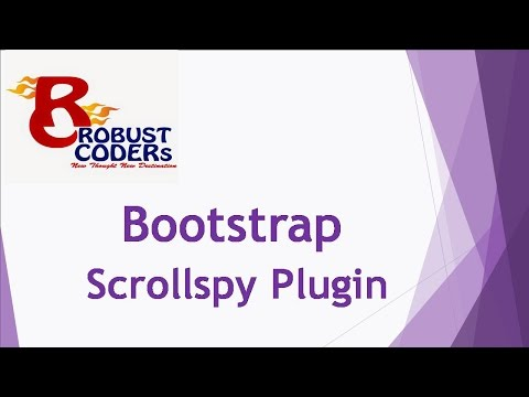 Bootstrap3 tutorial in hindi part-20| Scrollspy |How to Create Bootstrap scrollspy|Robust Coders