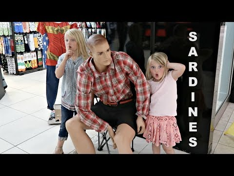 SILLY SARDINES AT THE MALL!! | HIDE AND SEEK!