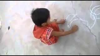 Intelligent kid drawing