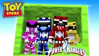 BABY POWER RANGERS ARE BORN! w/Little Carly (Minecraft ToyStore).