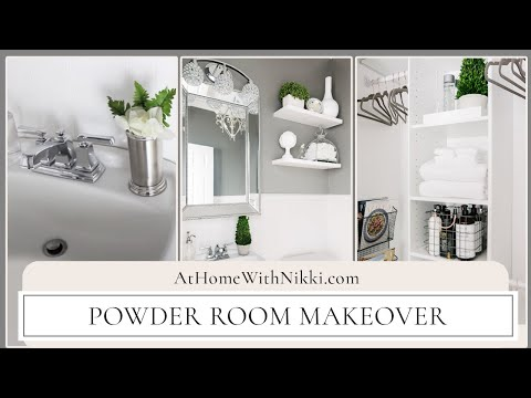 HOME DECOR: Powder Room Makeover