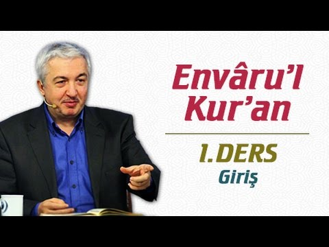 Envâru'l-Kur'ân 90. Ders: Murselât Sûresi 8-24. Âyetler - Prof.Dr. Mehmet Okuyan