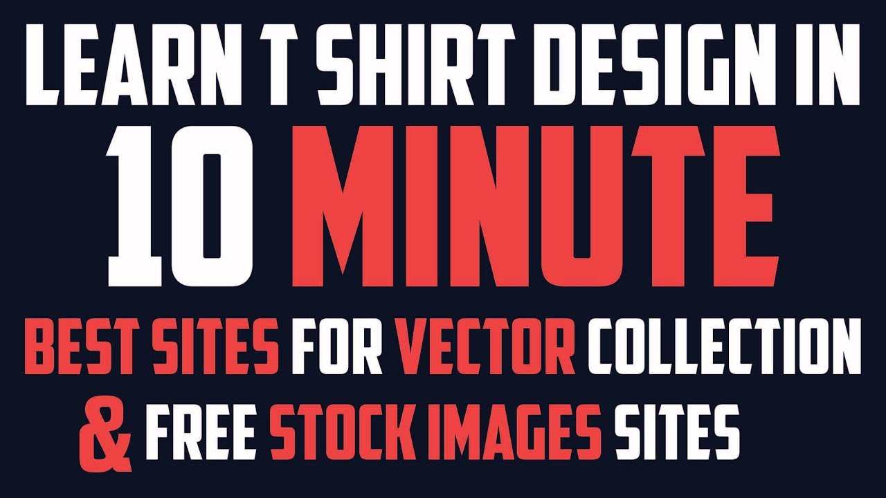 Learn T Shirt Design In 10 Minute Part 2 Royalty Free Stock Photos