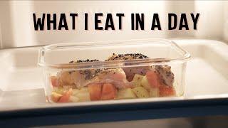 Vicky懒人厨房 | 一天吃什么 #05 | 健康低卡食谱 | 鸡蛋马芬杯 | 咖喱味烤鸡腿 | 烤杏鲍菇佐藜麦沙拉