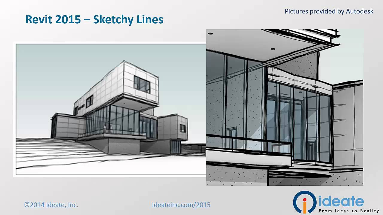 Autodesk Revit 2015 Sketchy Lines - YouTube