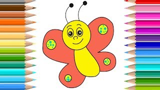 Kids Coloring Fun | Color Butterfly | Learning Video  for children |  educational