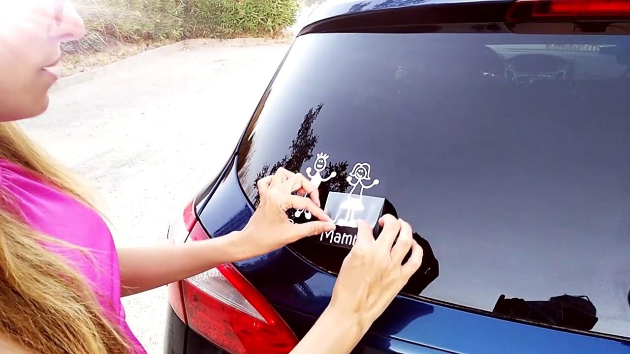 Preferenza Adesivi auto, come si attaccano sul lunotto posteriore - YouTube ZZ88