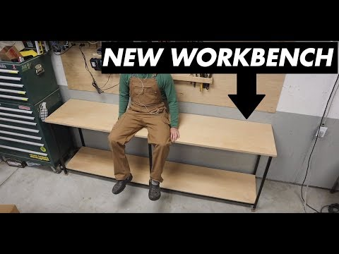 DIY Steel Frame Workbench For Under $100