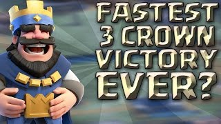 FASTEST 3 CROWN VICTORY EVER? | Clash Royale w/ Adrian