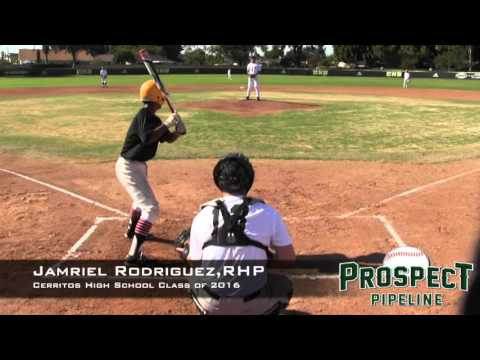Jamriel Rodriguez Prospect Video, RHP, Cerritos High School Class of 2016