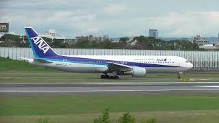 10 JA8669 ALL NIPPON AIRWAYS B767 take off ITAMI 全日空 ボーイング767 離陸 伊丹 thumbnail