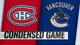 11/17/18 Condensed Game: Canadiens @ Canucks