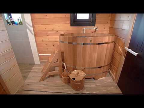 Дубовая купель для бани производства Компании - «BENTWOOD».