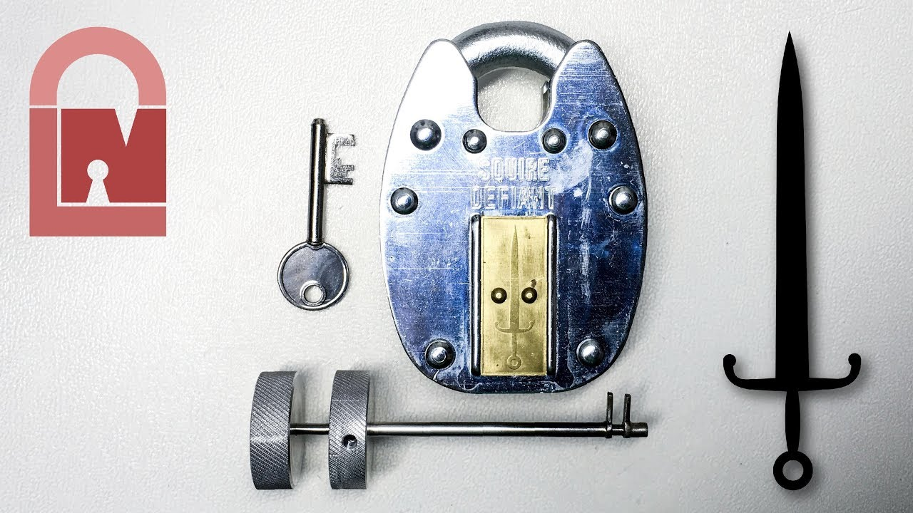 (507) Beautiful Big Squire Defiant Lever Padlock Picked