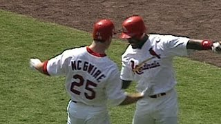 Mark McGwire hits his 60th home run of 1998