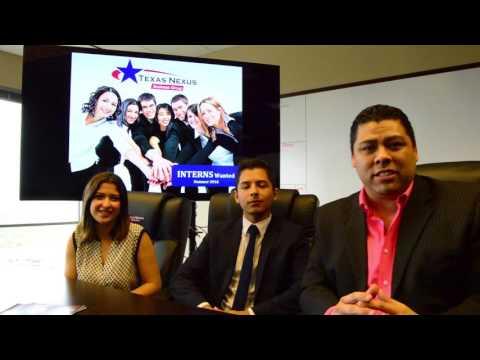 Texas Nexus - Summer Internship 2016