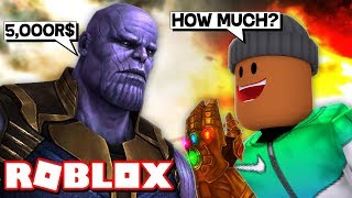 Spending ALL my ROBUX to become THANOS in Roblox Superhero Simulator!