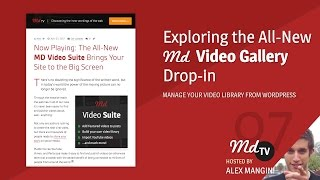 #07: Exploring the MD Video Suite