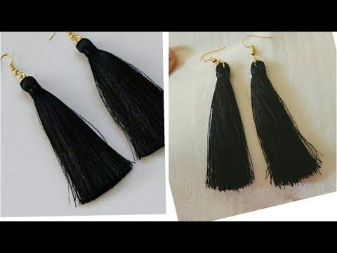 DIY Tassel earring.... how to make silk thread tassel earrings at home easily