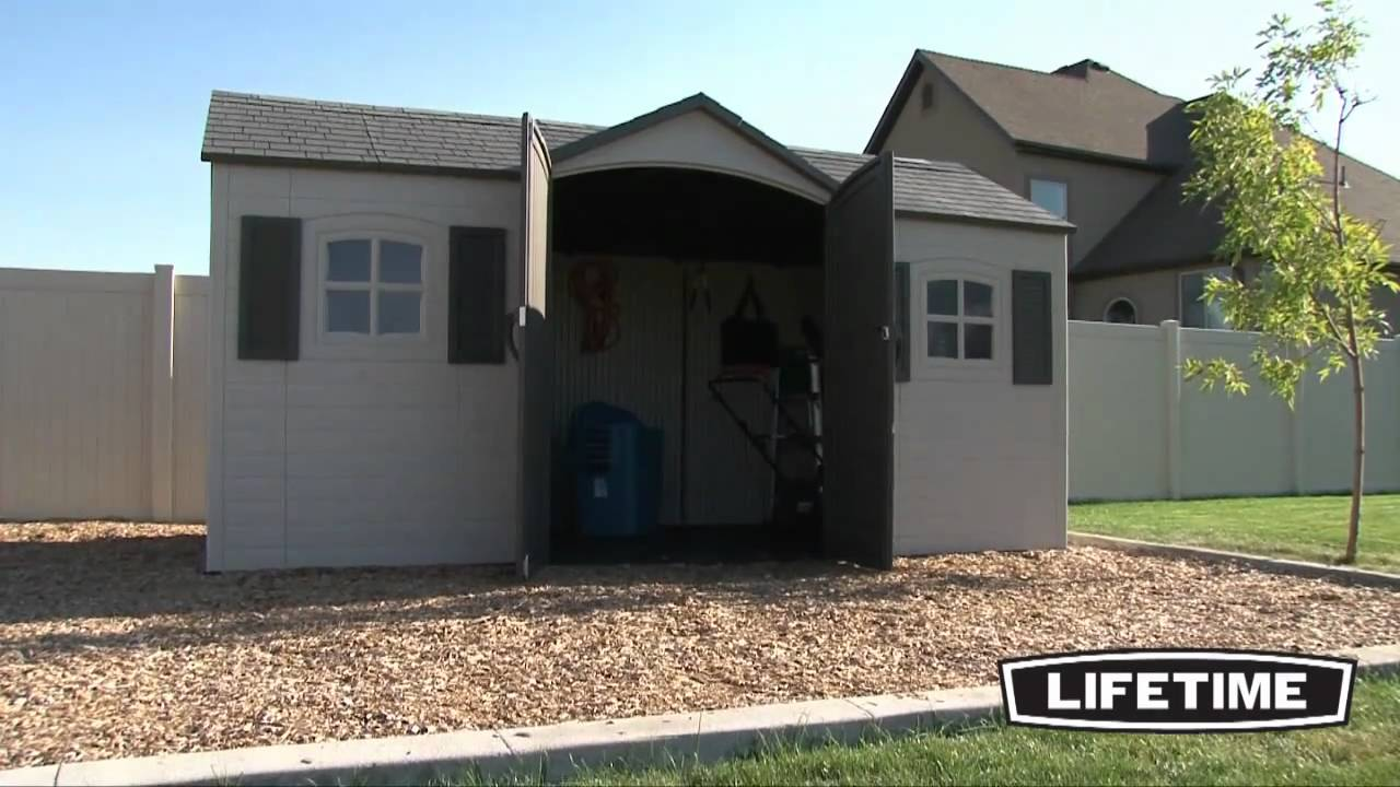 & Lifetime 15X8 ft Shed - YouTube
