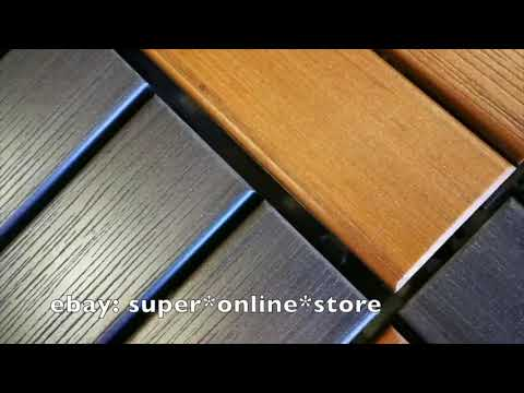 Installation - Decking Tiles DIY Wooden Garden Timber Flooring Plastic Composite