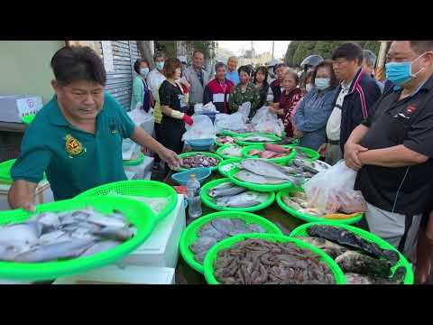 Taiwan Seafood Auction - He is a Super Star !