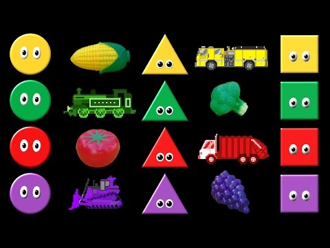 Colors Collection Volume 2 - Shapes, Colors, Vehicles, Fruit & Vegetables - The Kids' Picture Show