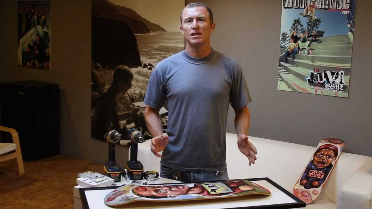 Skateboard Picture Frame how to install a skateboard using a sk8ology frame kit - youtube