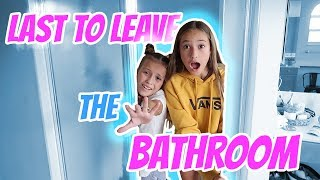 LAST TO LEAVE THE BATHROOM Challenge! Its R Life
