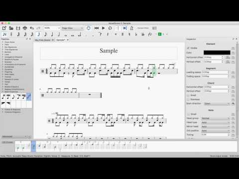 Enter drums notation in MuseScore 2