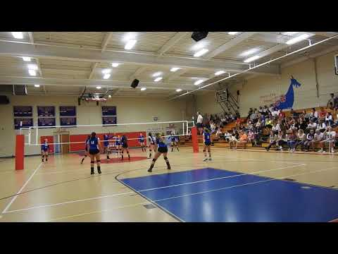 2017.09.15 Epping Blue Devils Varsity Volleyball Game 3 vs Mascenic WIN 25 - 23