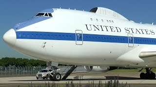 """Boeing E-4B """"Doomsday Plane"""" - Close-up at Le Bourget Airport!"""