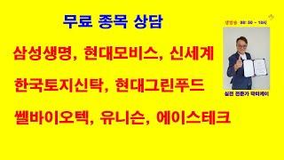 삼성생명, 현대모비스, 한국토지신탁, 현대그린푸드, 쎌…