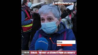 """Manifestation à Marseille pour """"la sécurité des enfants dans les écoles"""""""