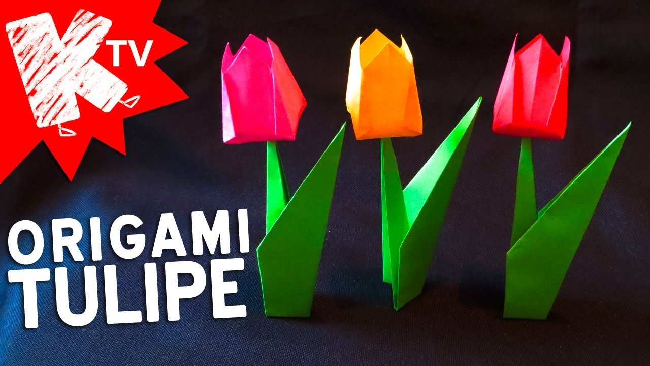 Origami Fleur Facile Tulipe En Papier Youtube