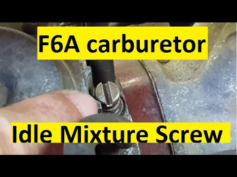 F6A Carburetor  Idle Mixture Screw For Engine Start-up