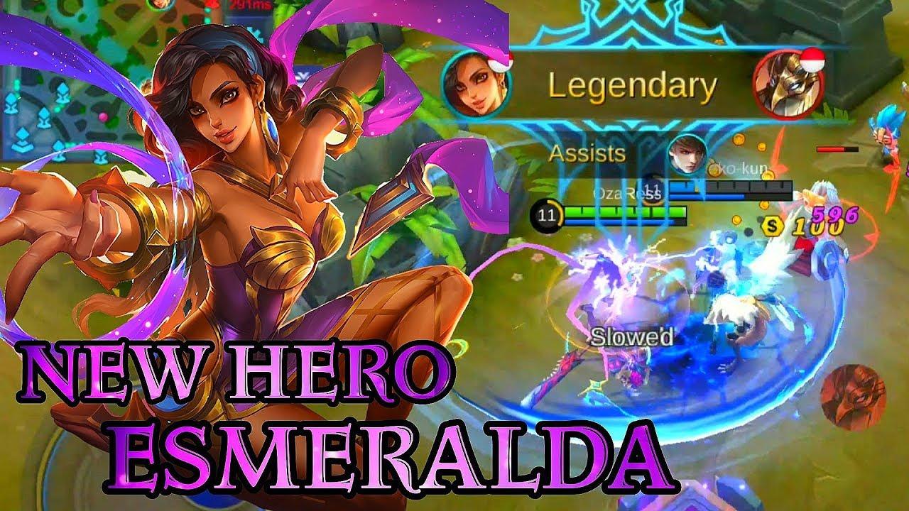 New Hero Esmeralda Gameplay - Mobile Legends Bang Bang