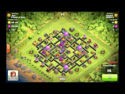 Clash Of Clans - Defensive Replay Giants Healer
