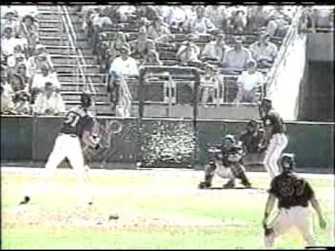 Randy Johnson hits bird with 100 mph pitch
