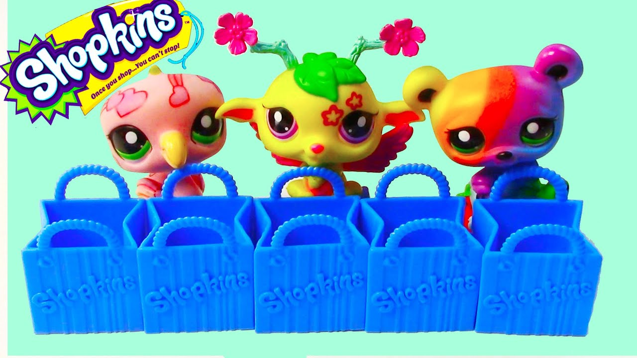 Lps Shopkins 5 Pack Mystery Surprise Blind Bag Toy Review