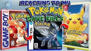 Reacting To My Pokémon Save Files