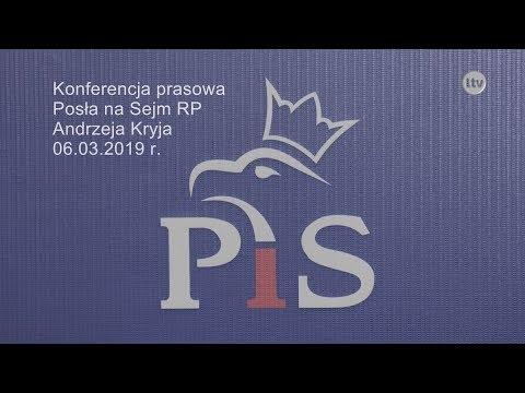 Lokalna.TV Ostrowiec: Konferencja Posła na Sejm RP Andrzeja Kryja - 06.03.2019 r.