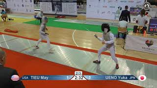 2019 118 T64 31 F F Individual Katowice POL WC RED UENO JPN vs TIEU USA